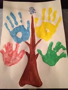 Arbre A Empreinte : l 39 arbre g n alogique avec empreinte de toute la famille m me du chien ecole pinterest ~ Preciouscoupons.com Idées de Décoration