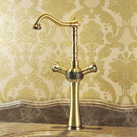 antique kitchen sink faucets heightening antique bronze 2 handle kitchen sink faucets