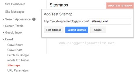 How Submit Blogger Sitemap Google Webmaster Tools