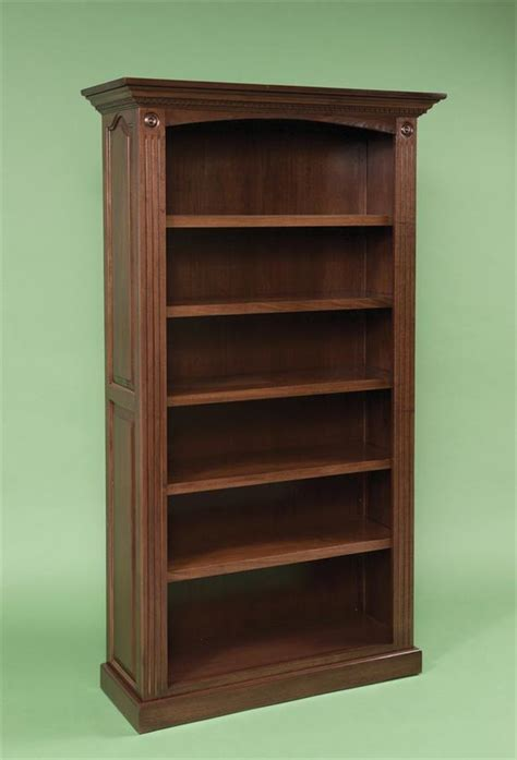 Solid Hardwood Bookcases by Premium Raised Panel Solid Wood Bookcase From