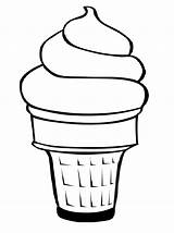 Ice Cream Cone Clip Cliparts Coloring Pages Drawing Line Creams Cup Sprinkles sketch template