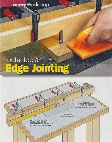 router table edge jointing woodworking tips