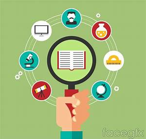 Creative science education background icon vector – Over ...