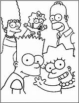 Coloring Simpsons Printable Cartoon Bestcoloringpagesforkids 4e Sheets sketch template
