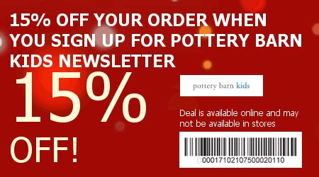 pottery barn code pottery barn codes save 46 w 2015 promo