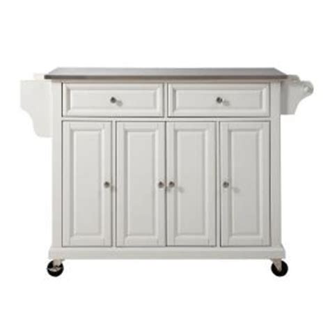 stainless steel kitchen island home depot crosley 52 in stainless steel top kitchen island cart in 9399