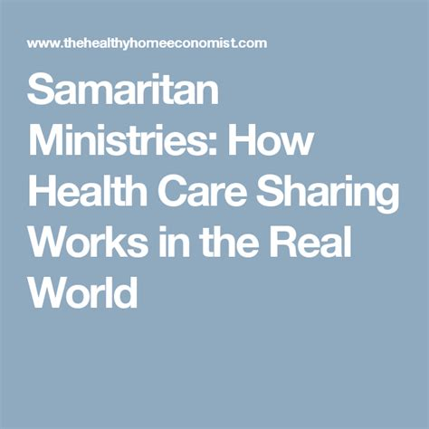 We've been doing this now at samaritan for a little over 22 years and. Samaritan Ministries: How Health Care Sharing Works in the ...