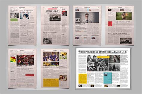 modern newspaper layouts  premium templates