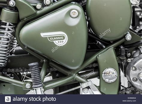 Royal Enfield Classic 500 Image by Royal Enfield Classic 500 Motorcycle Stock Photo