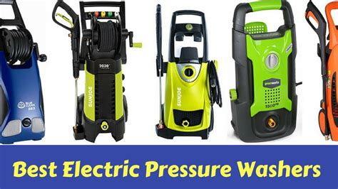 top   electric pressure washers   market today