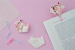 Marque Page En Papier : marque page en origami les petits chats maman tout faire ~ Melissatoandfro.com Idées de Décoration