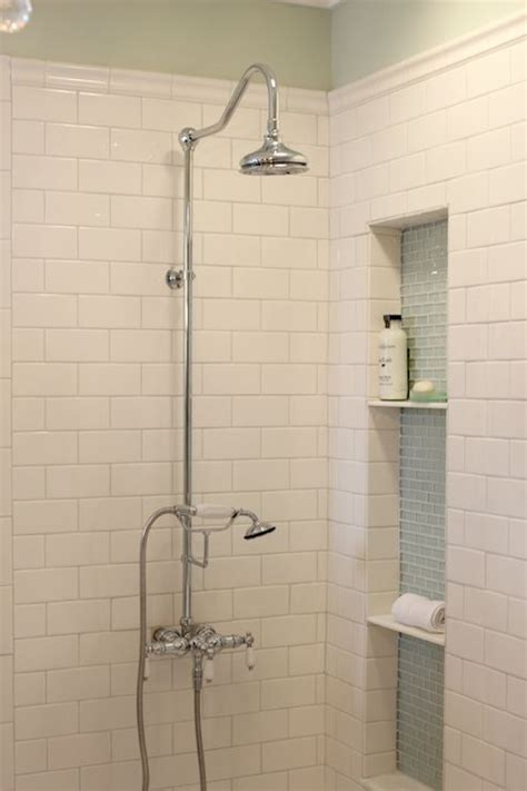 chagne glass subway tile 25 best ideas about shower plumbing on pinterest bathroom plumbing clever bathroom storage