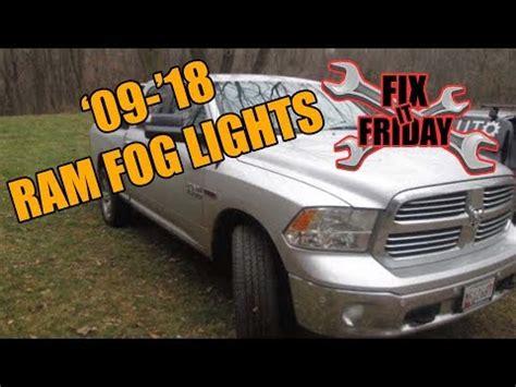 Dodge Ram Fog Light Youtube