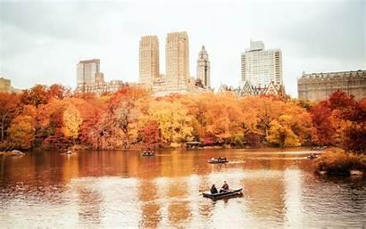 Central Park York Autumn Nyc Manhattan Usa