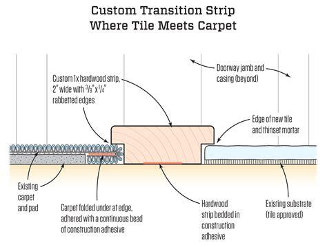 transition  tile  carpet jlc  tile