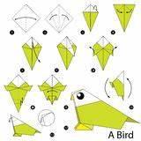 Comment Faire Un Oiseau En Papier : instructions tape par tape comment faire l 39 oiseau d 39 origami illustration de vecteur image ~ Melissatoandfro.com Idées de Décoration