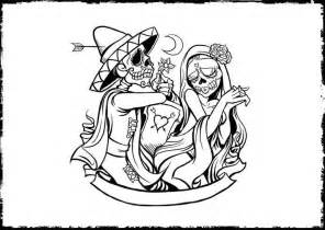 HD wallpapers day of the dead coloring pages