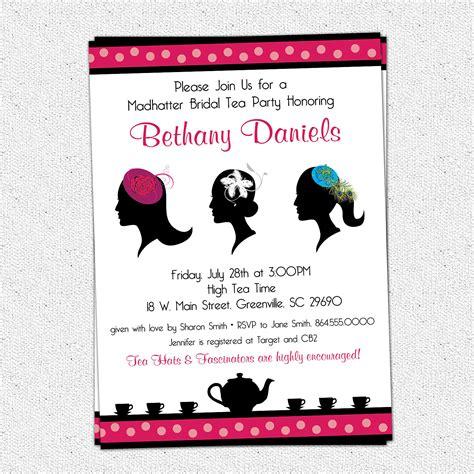 madhatter mad hatter tea party invitations fascinator