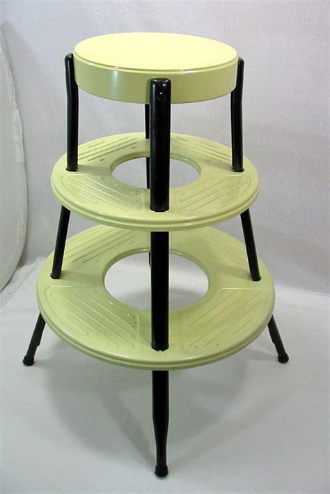Vintage round step stool, New Old Stock, by Senior   Retro