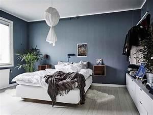 Grau Blau Wandfarbe : schlafzimmer schlafzimmer blau schlafzimmer blaue farbe schlafzimmer blau grau streichen ~ Indierocktalk.com Haus und Dekorationen