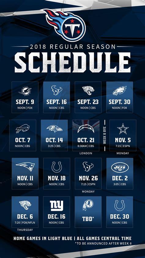 titans  regular season schedule announced wgfx fm