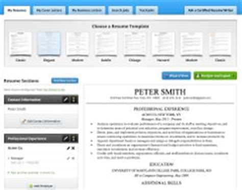 Resume Building Tool by Resume Builder Create A Resume In Minutes
