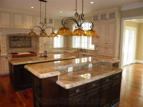 Netuno Bordeaux Granite Kitchen Island Top From United