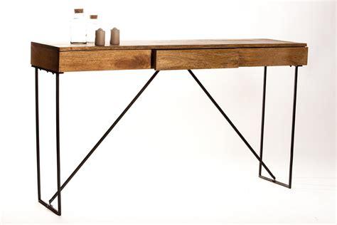 bureau bois metal console bureau en bois