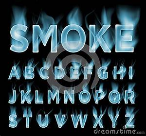 Letters Font Style Smoke Font Collection Fog And Clouds Font Gas Font