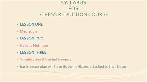 Capstone Assignment 05 Stress Reduction Lesson 01