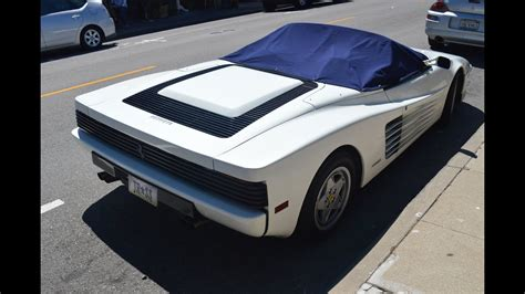 rare white ferrari testarossa spider overview video