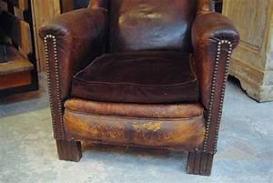 Fauteuil D Occasion : ancien fauteuil en cuir ann es 20 par le marchand d 39 oublis ~ Teatrodelosmanantiales.com Idées de Décoration