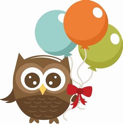 Owl Holding Clipart Silhouette Balloons Svg Flower