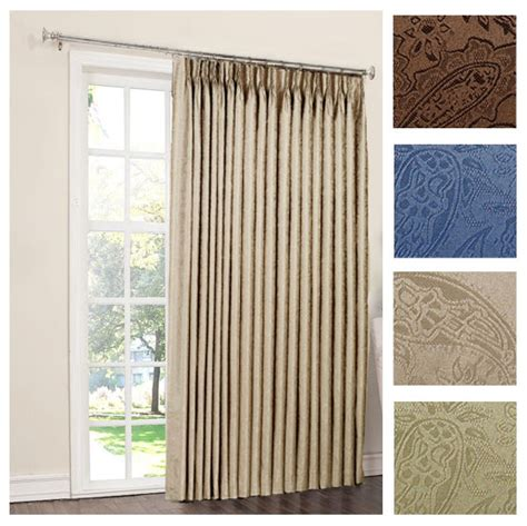 Patio Door Curtains For Traverse Rods by Gabrielle Pinch Pleat Thermal Room Darkening Patio Panel