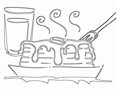 Pancake Coloring Pages Week