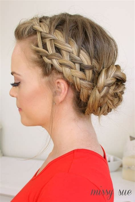 pretty braided updo hairstyles popular haircuts
