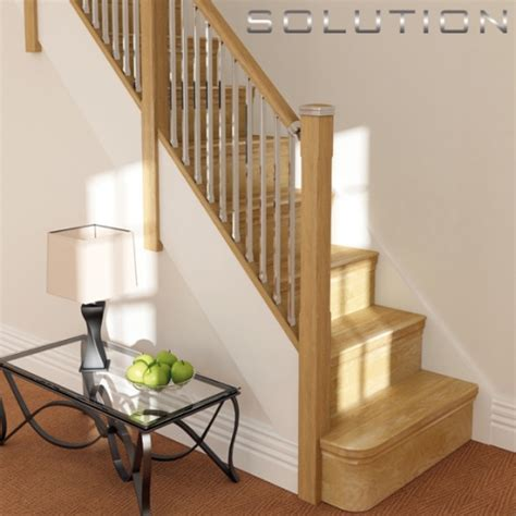 chrome banisters solution stairparts chrome spindles oak staircase parts