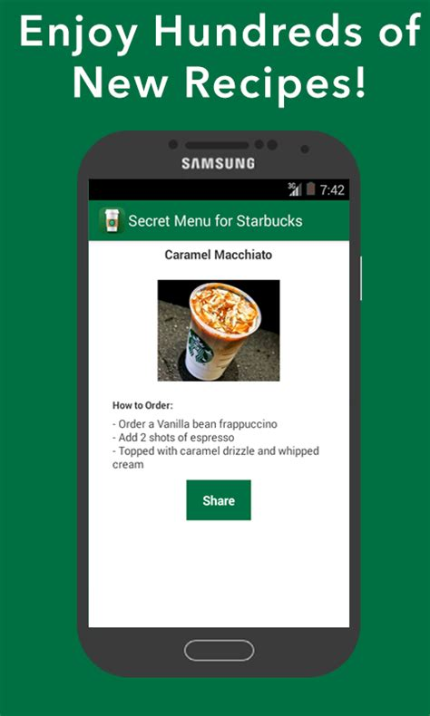 Actually, secret menus refers to items you can special order at restaurants that aren't mentioned on standard menus. Amazon.com: Secret Menu for Starbucks - Coffee, Frappuccino, Tea, Hot, and Cold Drinks Recipes ...