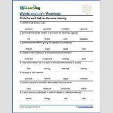 Grade 4 Vocabulary Worksheet  Words And Their Meanings  K5 Learning