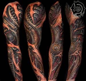 Tattoo Ganzer Arm Frau : 1001 ideen und ispirationen f r ein cooles biomechanik tattoo tattoos pinterest ~ Frokenaadalensverden.com Haus und Dekorationen
