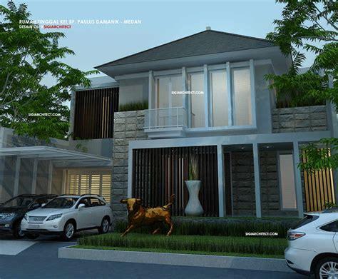 desain rumah modern minimalis  lantai type