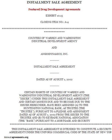 installment payment agreement template 10 best images of installment loan agreement template sle payment agreement installment