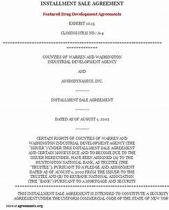 Installment purchase agreement sample installment for Installment sale agreement template