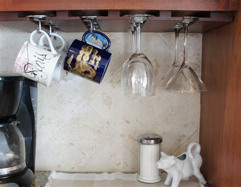 Cabinet Coffee Mug Holder by Coffee Mug Hooks Cabinet Diy In 2019 Mug Rack