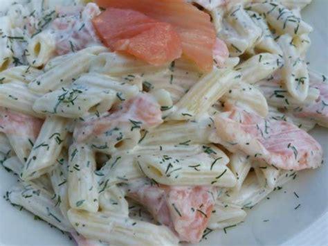 recettes de salade de pates  saumon fume