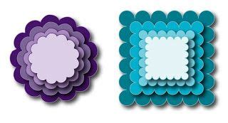 Nesting scalloped circles and squares Svg shapes Svg