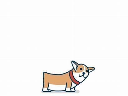 Animated Dog Cartoon Jump Happy Animation