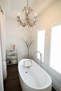 Decor Inspiration: Chandeliers in the Bathroom - Yes Missy