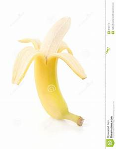 Half Peeled Banana Royalty Free Stock Photo - Image: 35427445
