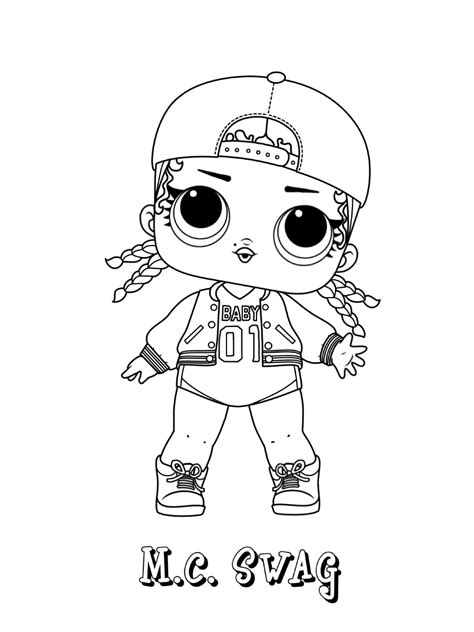 mc swag lol doll coloring page  printable coloring pages  kids